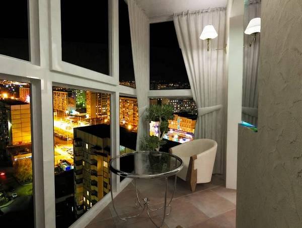 балкон с панорамным остеклением дизайн