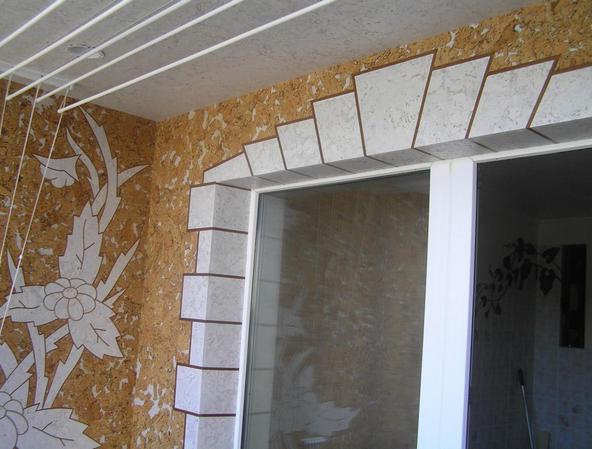 пробковые панели на балконе
