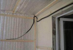 проводка на балкон