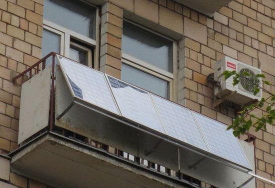 использование солнечных батарей на балконе