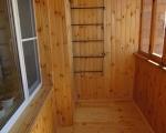 Обшивка вагонкой балкона-2
