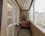 натяжной потолок на балконе-3