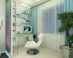 Комната с лоджией дизайн-1