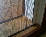 Москитная сетка плиссе на дверь балкона