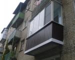 Отделка балкона снаружи профлистом