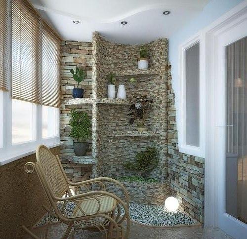 кресло-качалка на балконе